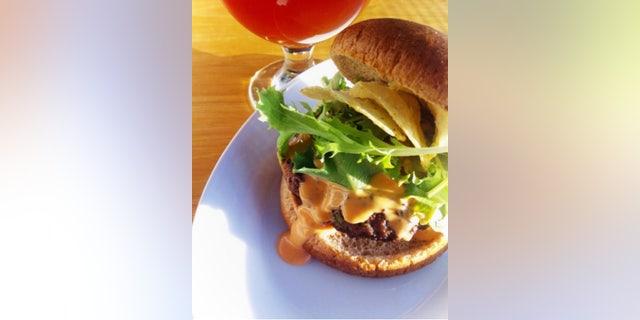 Buffalo Bleu Cheeses Stuffed Burger (Courtesty of Homemade Delish).