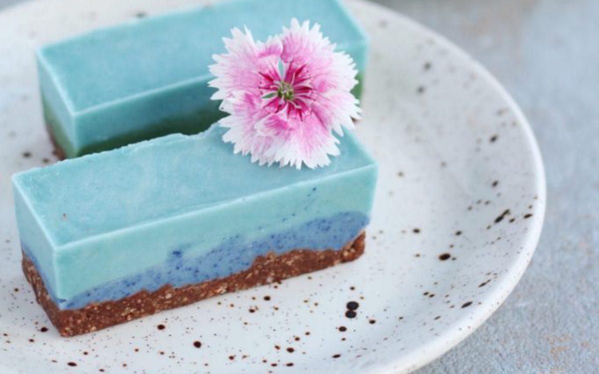 Minty Blue Cheesecake Bars