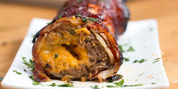 BBQ Bacon Onion Meatball Bombs