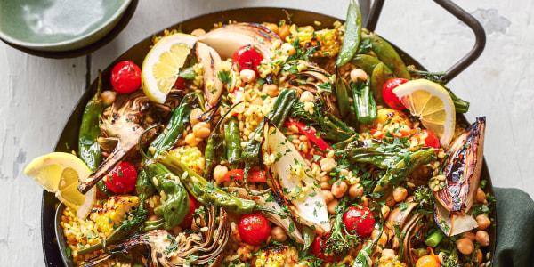 Grilled Vegetable Paella