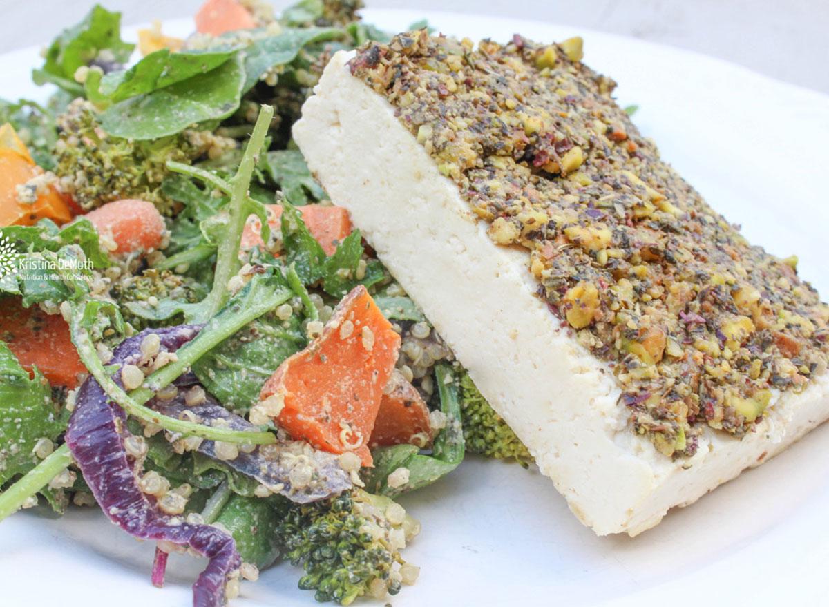 pistachio crusted tofu